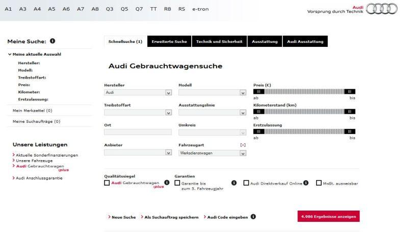 Audi Werkstattwagen Small