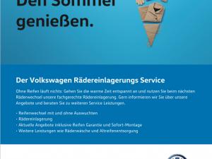Der Rädereinlagerungs-Service von Volkswagen