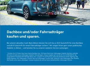 Dachbox und / oder Fahrradträger kaufen und sparen.